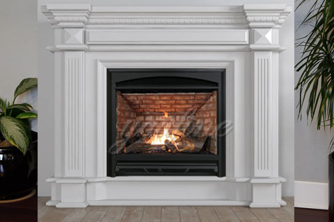 2017 indoor modern Regency white marble fireplace surround for decoration