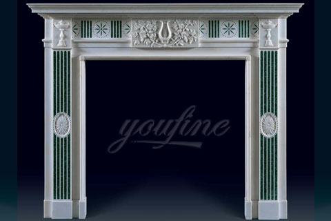 Indoor decorative Regency marble fireplace mantels on sale