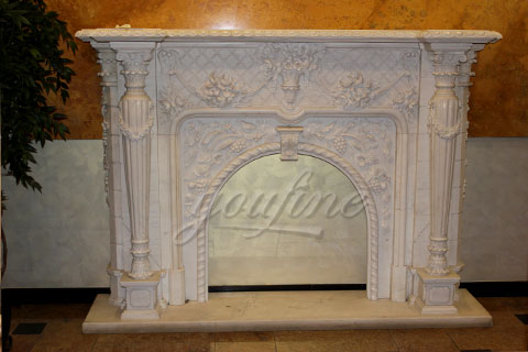 Decorative Victorian marble fireplace surround for sale