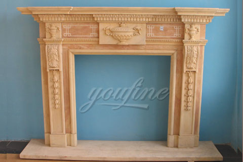 Factory Georgian white marble fireplace mantel for decoration