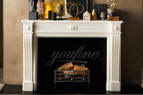 Factory customized indoor Regency marble fireplace frame for sale