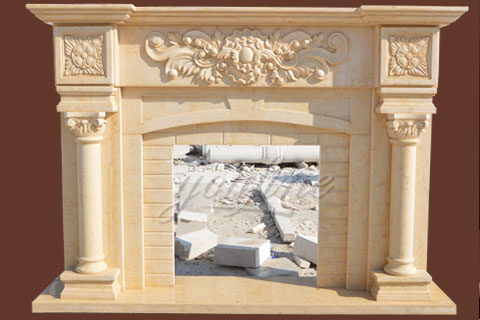 Indoor unique Georgian  marble fireplace surround for sale